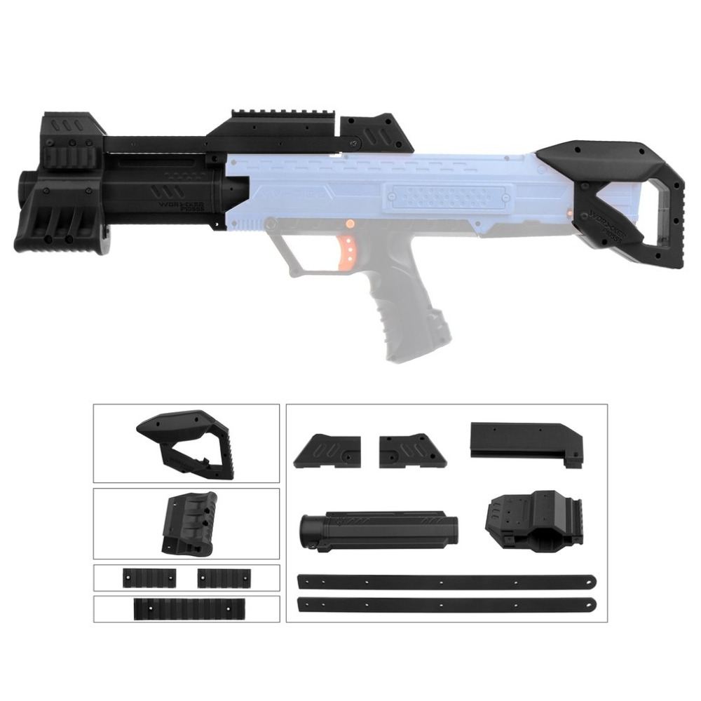 TRAVAILLEUR Léger Haute Résistance En Plastique Mod F10555 Orange Pompe kit Grip Stock Ensemble pour Nerf Rival Apollo XV700 Modifier Jouets cadeaux