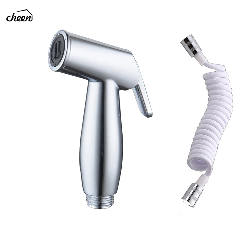 Toilet bidet Sprayer Hand Held Bidet Shattaf Set Cloth Diaper with Retractable Spring Hose for Attachment