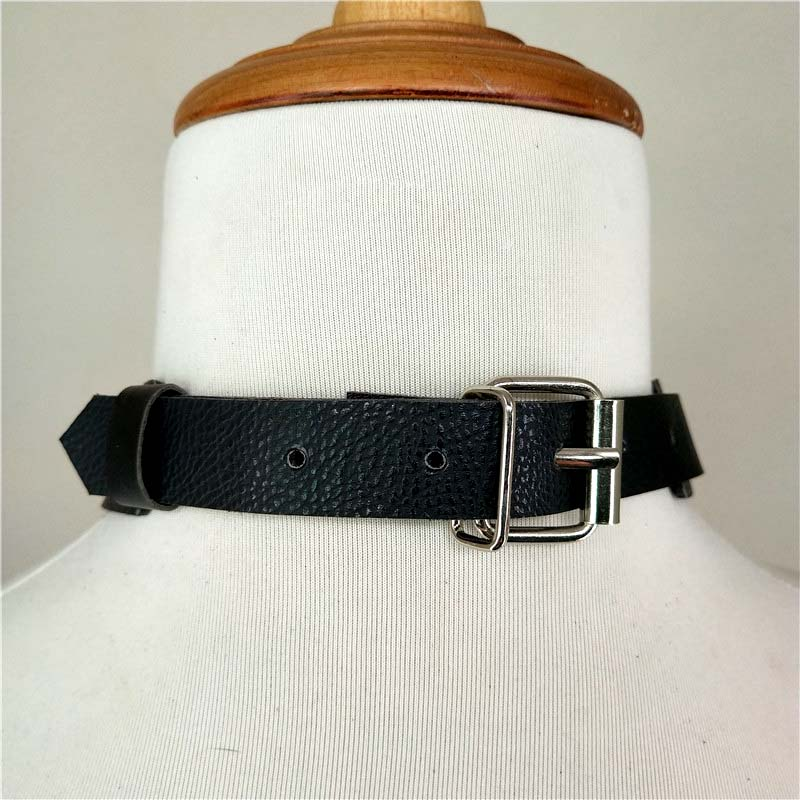 Leather Harness Collar Bondage Arnes Mujer Choker Womens Belt Pastel Goth Seks Jartiyer Sexy Necklace Pole Dance Cinturon Mujer