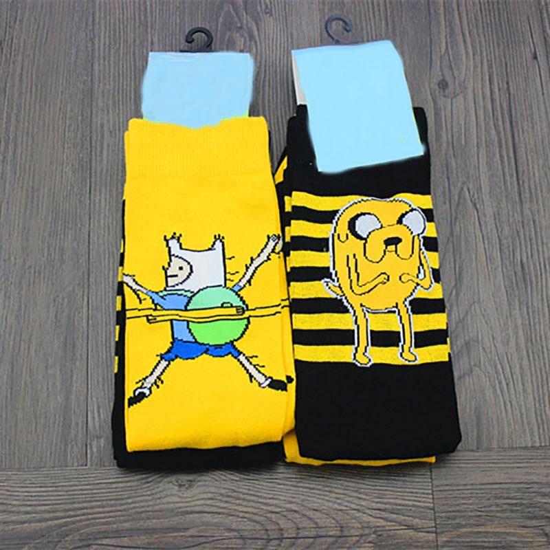 Hot Unisex Happy Socks Art Abstract Creative Pattern Original Socks Cartoon Fashion Women Fun Socks Spring And Winter