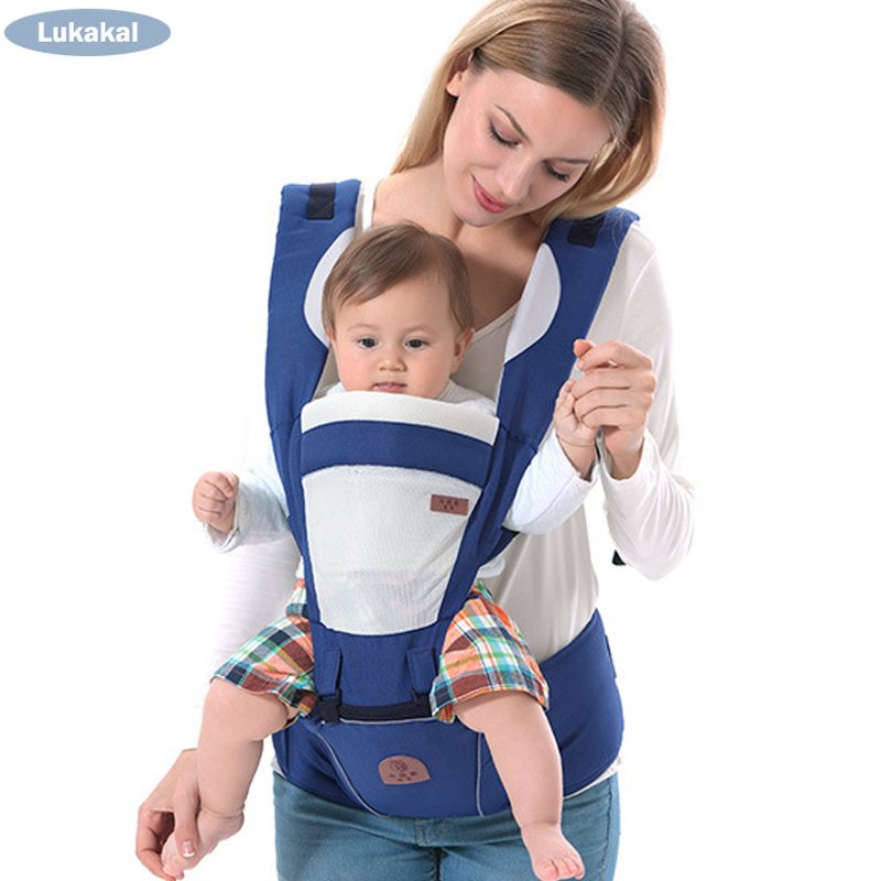 Mochila ergonómica para bebé multifuncional 3 en 1 cabestrillo de bebé transpirable con capucha canguro para 1 a 36 m mochila para bebé