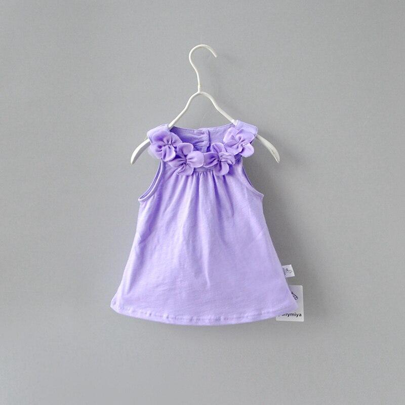 Befangen Verlegen Heißer Sommer Baby Kinder 10-4y Mädchen Blume Ärmel Princess Party Kleider Kleidung Solide Baumwolle Solide Vestido Unsicher Selbstbewusst Gehemmt