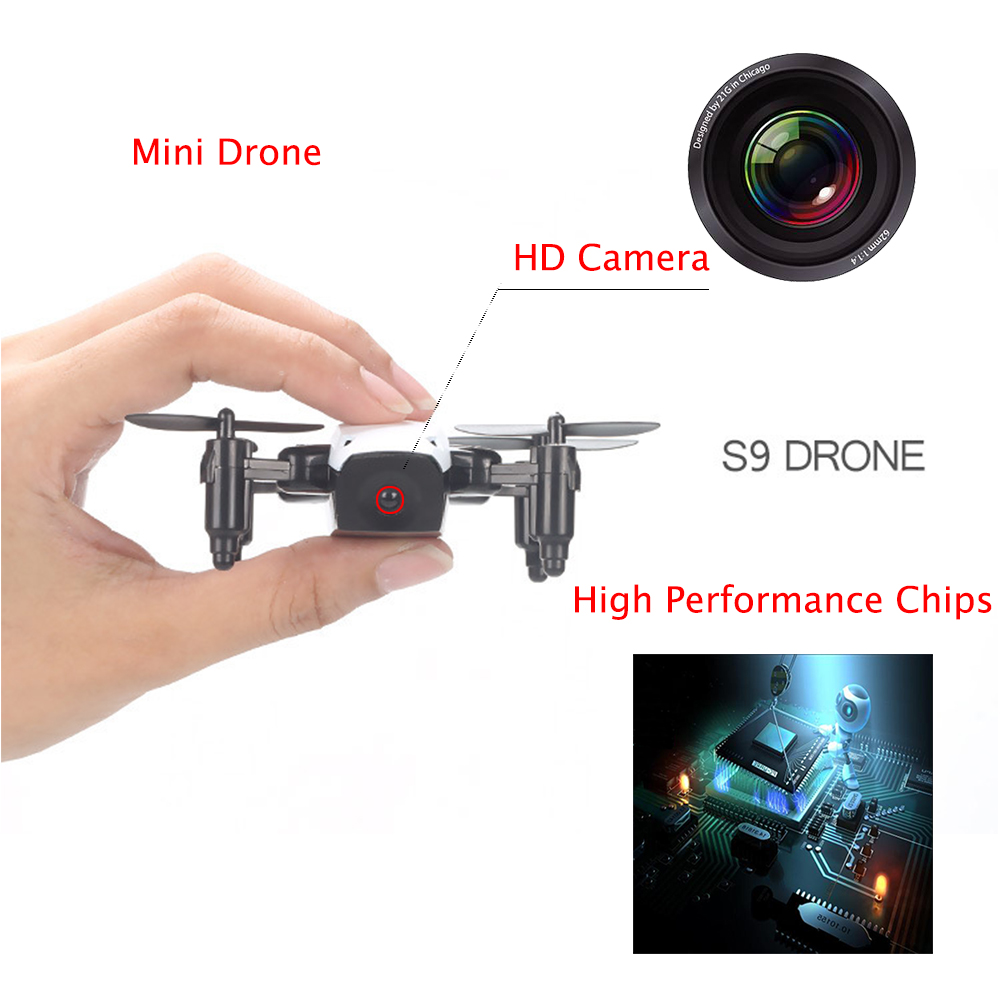 WIFI FPV Mini Drone with Camera 2.4G 4CH 6-axis RC Quadcopter Nano Drone RC WIFI FPV Drone Phone Control Toy Christmas gift 9