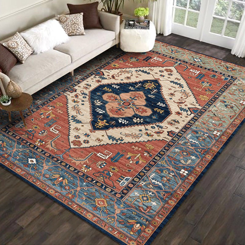 Us 12 54 40 Off Vintage Moroccan Carpets For Living Room Home Decor Bedroom Carpet Large Sofa Coffee Table Rug Indian Style Study Room Floor Mat In