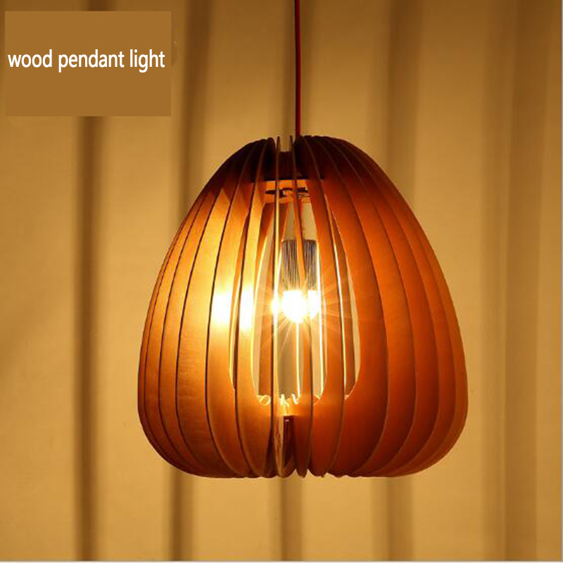 modern art wooden pendant lights shop bar cafe hanging lamps dinning living room restaurant lighting fixtures