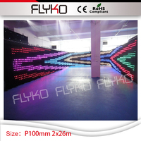 wholesale price 7ft by 86ft hot products to sell online P10CM decoration weddings video curtain led spacing vision screen