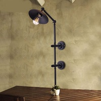 Vintage Black industrial wind wall Loft iron pendant light features a restaurant bar cafe room old punk GY13