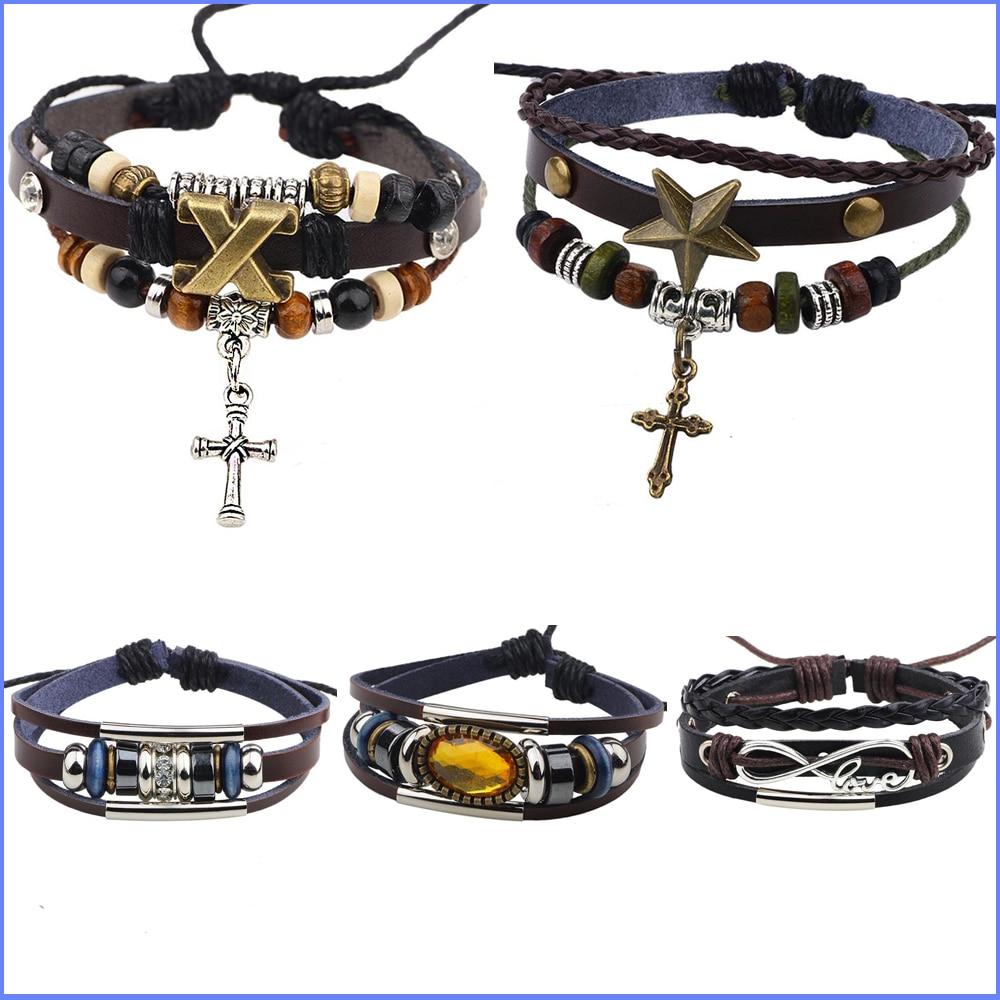 19 items x wing love cross christian bracelet homme leather bracelet femme woven bracelets for. Black Bedroom Furniture Sets. Home Design Ideas