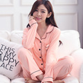New Sexy Two-piece Women's Pajama Sets Pure Cotton Lace Long Sleeve Shorts Sleepwear Female Pyjama Nightgowns Sleep Lounge 3XL