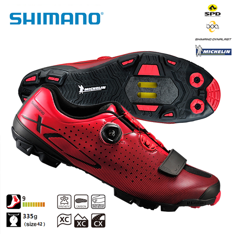 SHIMANO SH XC7 SPD SL MTB Carbon Fibre Bike Shoes Riding Equipment Bicycle Cycling Locking Cross Country Race Shoes