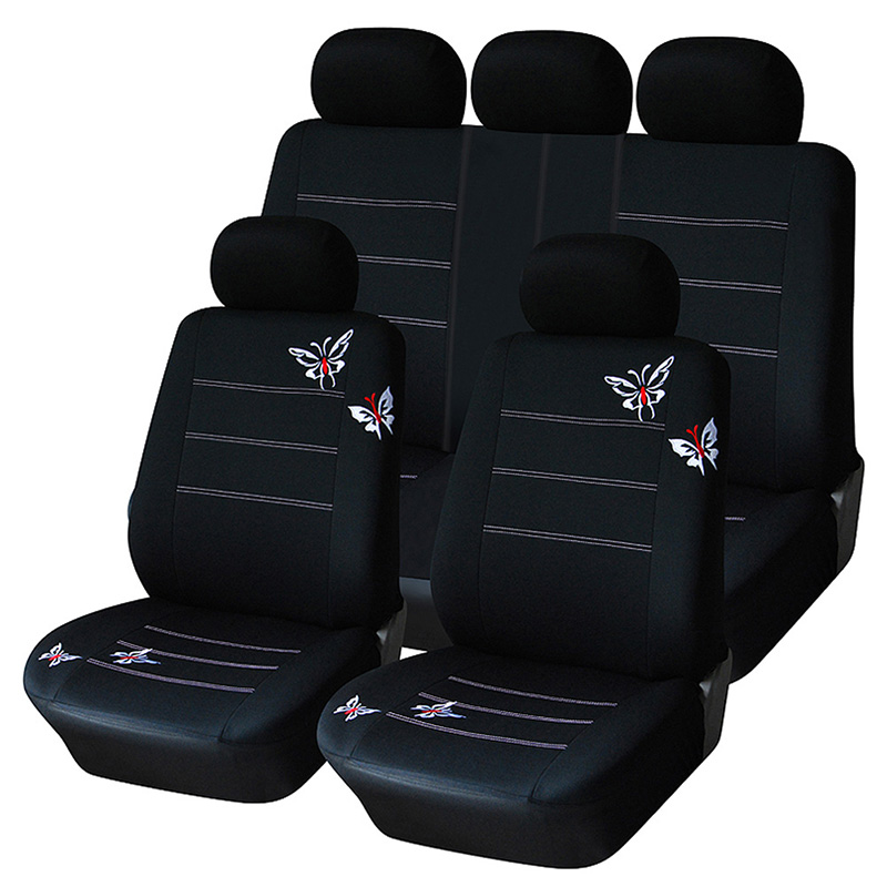 Image 2 - AUTOYOUTH Butterfly Embroidered Car Seat Cover Universal Fit Most Vehicles Seats Interior Accessories Black Seat Covers-in Automobiles Seat Covers from Automobiles & Motorcycles