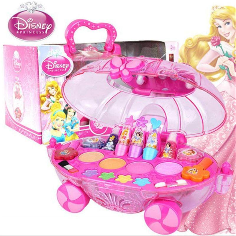 2019 Новый disney дети игрушечный макияж принцесса макияж игровой домик для девочек игрушечные лошадки набор косметики Рождественский подарок
