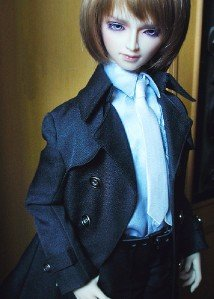 ФОТО [wamami] 500# Black Dust Coat/Outfit 1/4 MSD DOD DZ BJD Dollfie