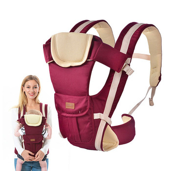 Cotton Ergonomic Baby Sling For 0-24 Months Baby Carrier Safe Infant Baby Kangaroo Adjustable Wrap Baby Suspender Backpacks & Carriers