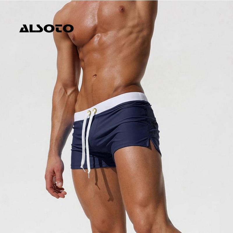 ALSOTO Swimwear Men Swimsuit Brand Shorts Mens Briefs Summer Swim Suit Sexy Mayo Sunga Beach Shorts Stroj Kapielowy Badpak