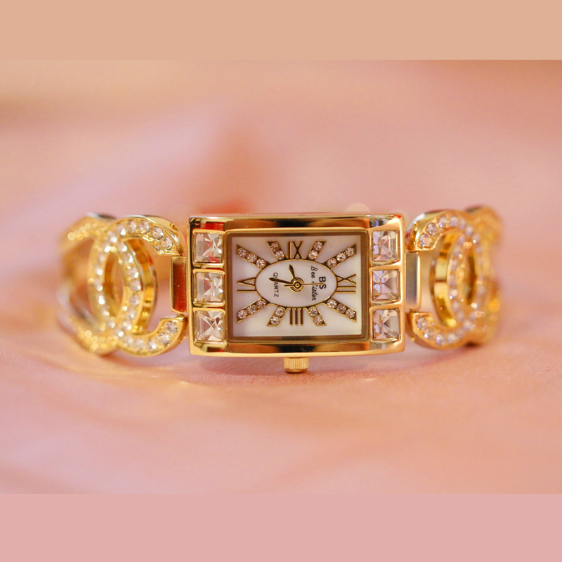 2018 Luxury Brand Diamond Relogio Fashion Rhinestone Watch Women Fashion Casual Watches Clock Female Quartz Ladies Wristwatch