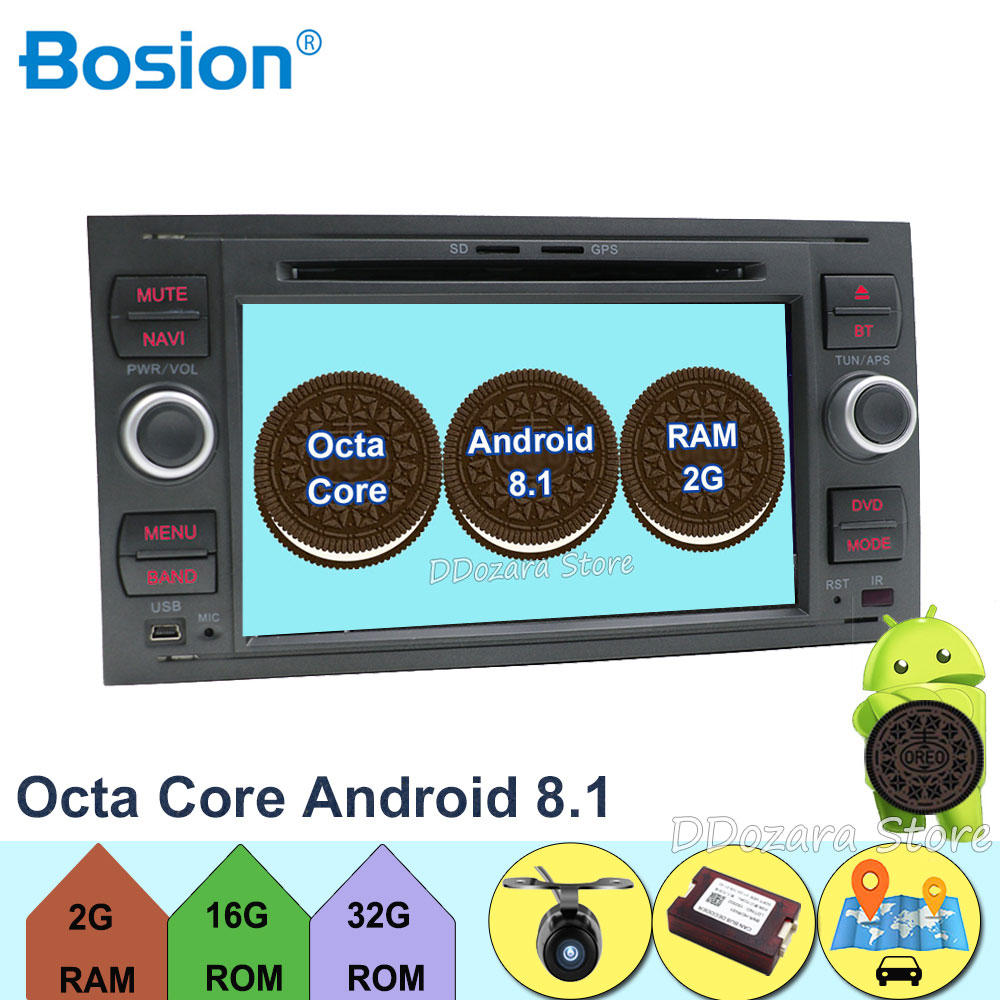7 Android 8.1 Octa Core Car Stereo DVD Player Radio GPS Navigation for FORD Focus II C-Max 2005 2006 2007 Fusion Transit7 Android 8.1 Octa Core Car Stereo DVD Player Radio GPS Navigation for FORD Focus II C-Max 2005 2006 2007 Fusion Transit