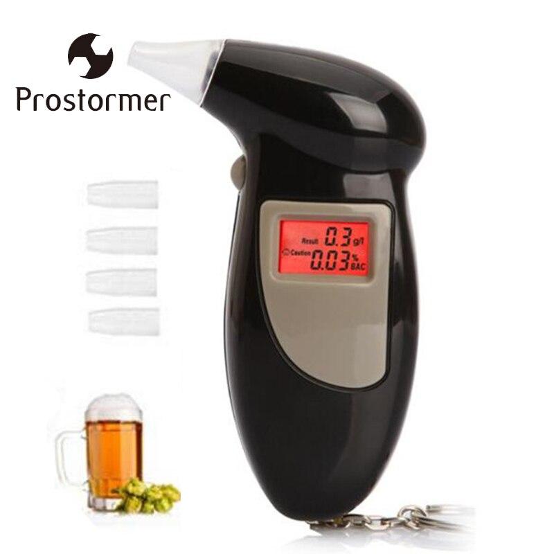 Prostormer Digital LCD Atem Alkohol Tester Prefessional Polizei Alkohol Die Alarm Alkoholtester Analyzer Detector