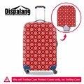 Dispalang elástica à prova d' água bagagem de viagem mala capa protetora com zíper listrado vermelho capa para 18-30 polegada do trole caso