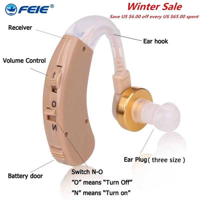 S-139 Brezžični slušni aids za ušesnim aparatom BTE Zvočni ojačevalnik zvoka Min. Velikosti Slušni slušalke za gluhost
