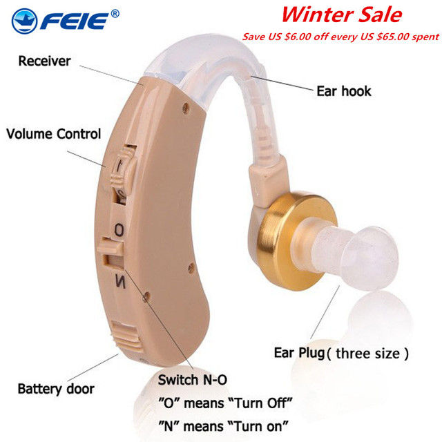 S-139 Wireless Hearing AIDS Behind The Ear Hearing Aid Kit BTE Sound Voice Amplifier Min Size Audiphone Deafness Hearing Headset