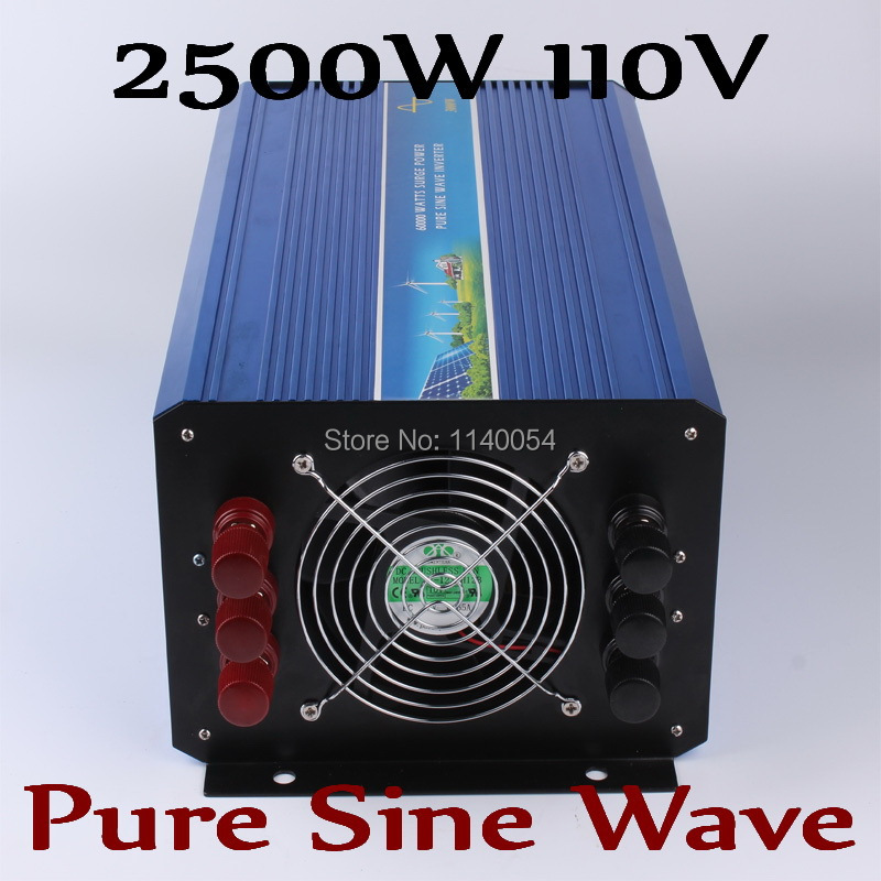 2500W Pure sine wave off grid inverter,  Solar wind inverter 2500W 110V DC to AC 100V/110V/ 220V/230V/240V with Peak power 5000W wind solar hybrid dc to ac pure sine wave off grid solar inverter 48v 110v 4000w