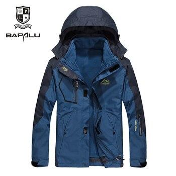 Jaqueta de inverno dos homens novos do Sexo Feminino Com Capuz Espessamento Manter casaco quente À Prova de Vento jaqueta À Prova D' Água jaqueta casaco 2 em 1 5XL 6XL 7XL 8XL