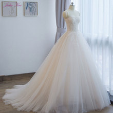 JULIA KUI Romantic Vintage Ball Gown Wedding Dress With
