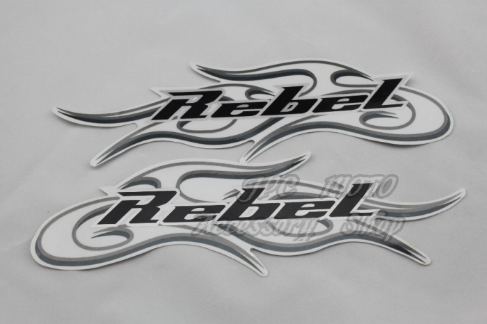 Freeshipping High Quality Motorcycle 3M Tank Emblem REBEL Decals Stickers Graphics Set Transfers For Honda Harley-Davidson emblem