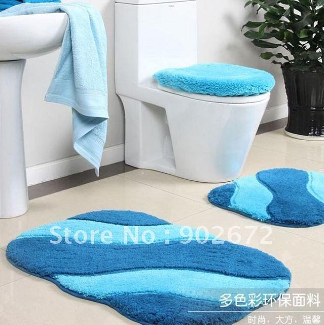 100 acrylique salle de bains toilettes tapis couvercle set mats bath 4 - Tapie Salle De Bain Aliexpress