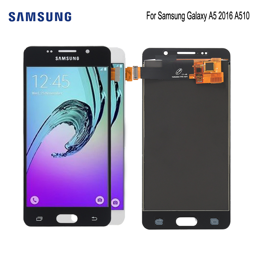 AMOLED For SAMSUNG Galaxy A5 2016 A510 LCD Display Touch Screen Phone Parts For Samsung A510 Screen LCD Replacement-in Mobile Phone LCD Screens from Cellphones & Telecommunications