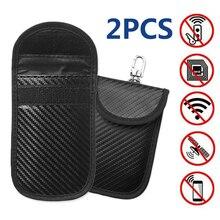 2x Car Key Keyless Entry Anti-Theft Fob Signal RFID Blocker Pouch Faraday Bag Uk