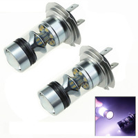 2pcs 100W H7 LED Bulb 20 SMD Cree Car Fog Light DC 12V 24V 360 Degree