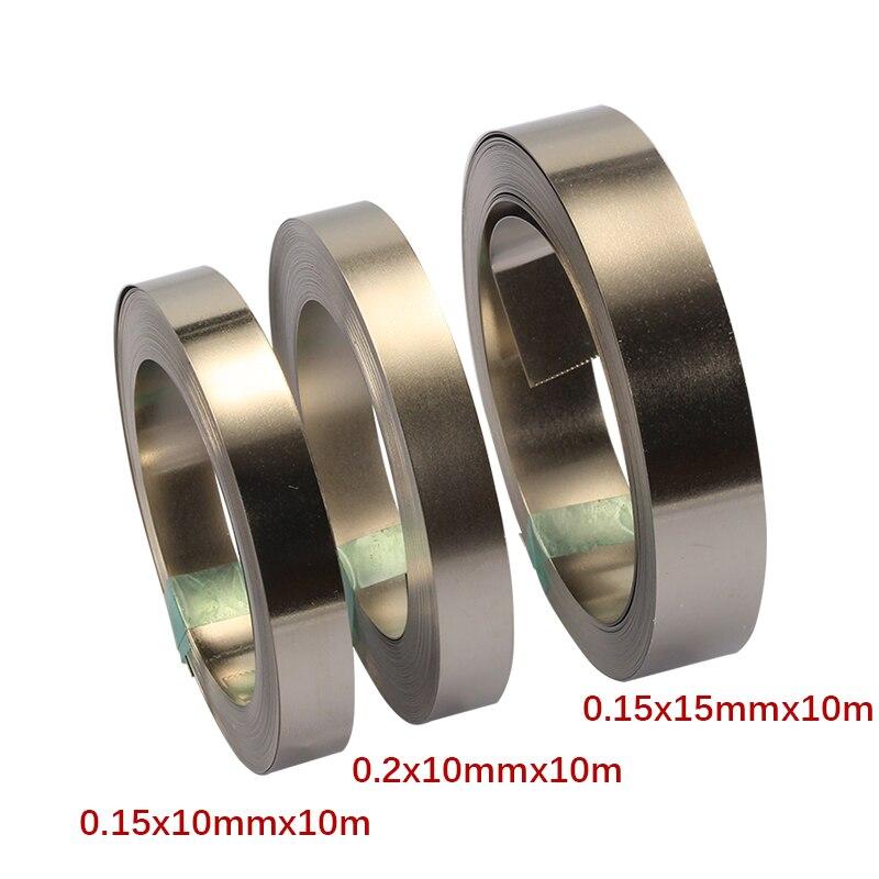10M 10/15mm Pure Nickel Strip Tape For Li 18650 Battery Spot Welding Compatible For Spot Welder Machine