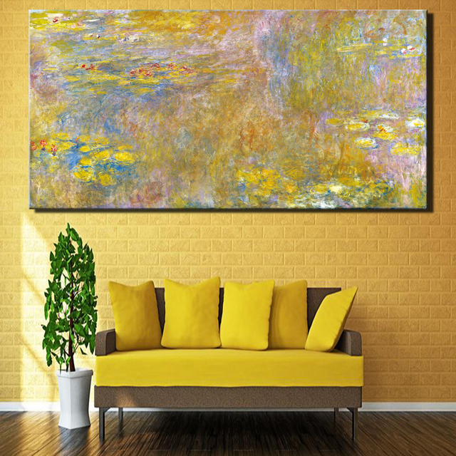 Monet World Famous Oil Paintings Reproductions Print On Canvas Lotus ...