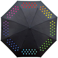 Portable Raindrops Umbrella Color Change Dots Rainbow Color Unique Umbrella Strong Paraguas De Mujer Rain Unbrellas 50YS142