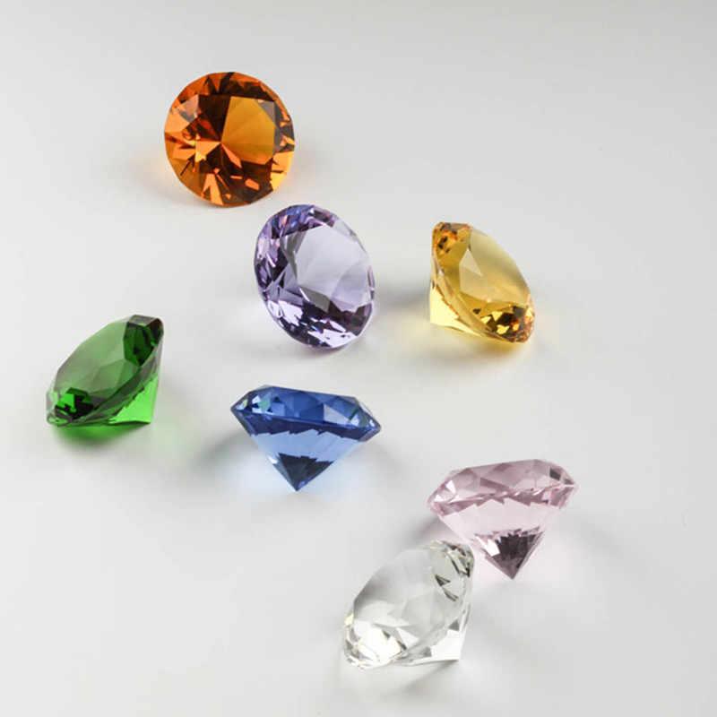 e07e5e3b3048 50mm Rainbows Quartz Crystal Glass Cute Diamond Paperweight Feng Shui  Crystals Wedding Bridal Party Home Vase