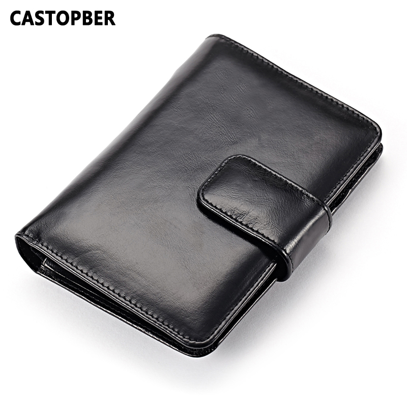 Genuine Leather Passport Holder Oil Wax Leather Cowhide Card Holders Wallets Coin Purse High Quality Women's Wallet Designer Bag mens wallet genuine leather vintage small wallets brand design high quality unisex oil wax cowhide coin purse credit card holder