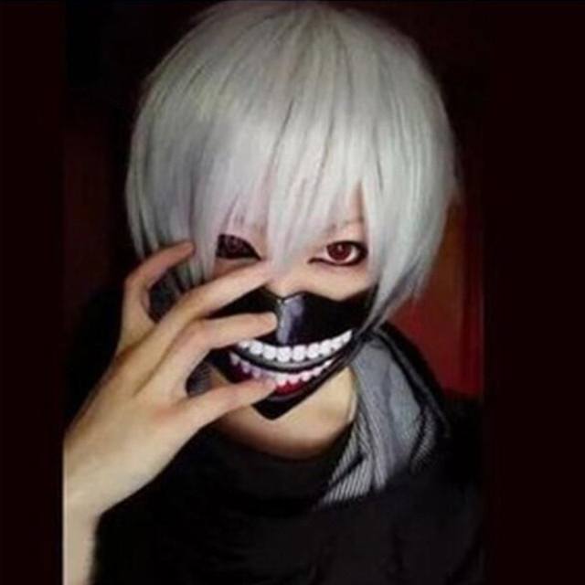 Tokyo Ghoul Mask Anime Cosplay Kaneki Ken Mask With Wigs Hair