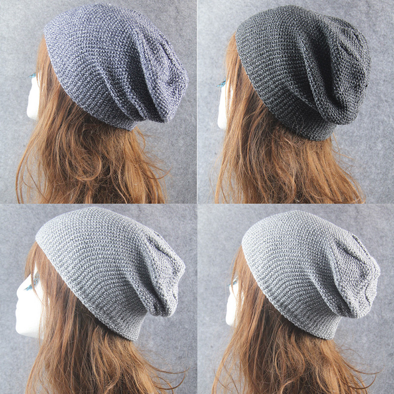 Fashion Winter Warm Wool Beanie Cap For Women Men Unisex Slouchy Solid Knitted Beanie Hat Hip Hop New Winter Accessories 75AA634 new fashion winter cap for women knitted cap wool pure color hat men casual hip hop hats beanie warm hat warm hat plus size lb