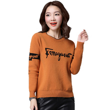 2019 Casual Women Sweater New Autumn Winter Round neck Short Knit Pullover Loose Korean Warm bottoming 755