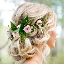 Women Girl Boho Flower Floral Hairband Headband Wreath Party Bride Wedding Beach Hair Accessories