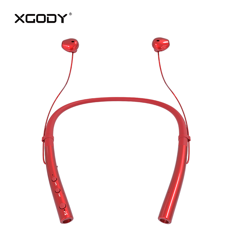 XGODY Q14 Neckband Sport Wireless Earphone Bluetooth V4.2 with Mic Handsfree Headset for iPhone Xiaomi Noise Reduction Ear Phone colorful earphone sport 3 5mm noise cancelling earphones headset with mic for iphone xiaomi computer mp3 player mobile phone