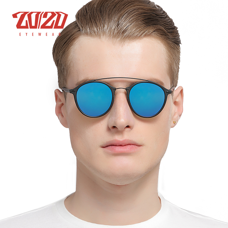 20/20 Brand Men Retro Polarized Sunglasses Women Classic Brand Designer Unisex Sunglasses Double Beams Glasses 2
