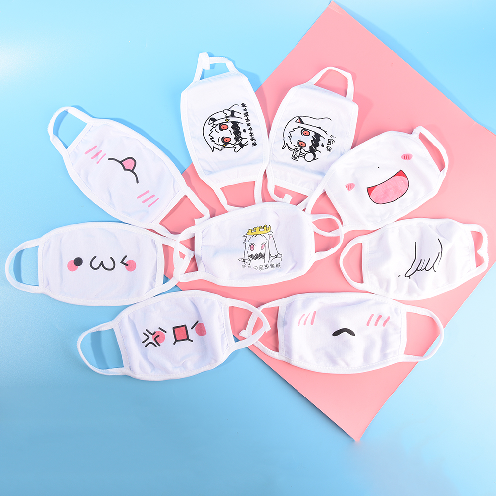 1Pc Chic Anti Dust Mask Kpop Cotton Mouth Mask Face Mask Emotiction Masque Kpop Masks Cute Anime Cartoon Mouth Muffle