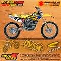 Equipo Gráficos personalizados Fondos Etiquetas Calcomanías Personalizadas Para SUZUKI RMZ250 2004 05 06 RMZ450 RMZ Motocross Enduro Supermoto