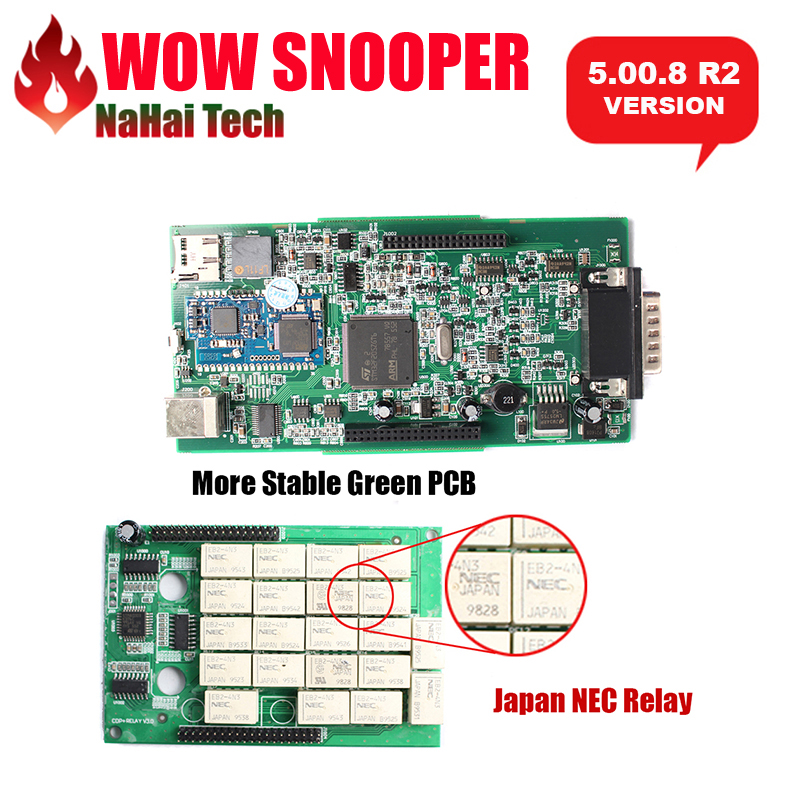 Prix pour 2017 NEC WOW SNOOPER avec Bluetooth 2015. R3 avec keygen V5.00.8 R2 logiciel tcs cdp pro voitures camions auto outils de diagnostic