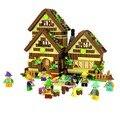 Победитель 680 шт. Строительные Блоки Бороться Вставленные Блоки Dream Girl Белоснежка Гномов Шале 5005 Совместим С Legoe