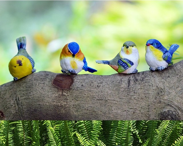 Tuin Vogels Speelse Ekster Standbeeld Outdoor Kunstmatige Vogel Hars
