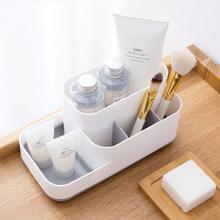 MeyJig makijaż Storage Box kosmetyczka Organizator duża pojemność makijaż wyświetlacz Case szczotka szminka Holder biurko łazienka Organizator tanie tanio Plastikowe Szary khaki